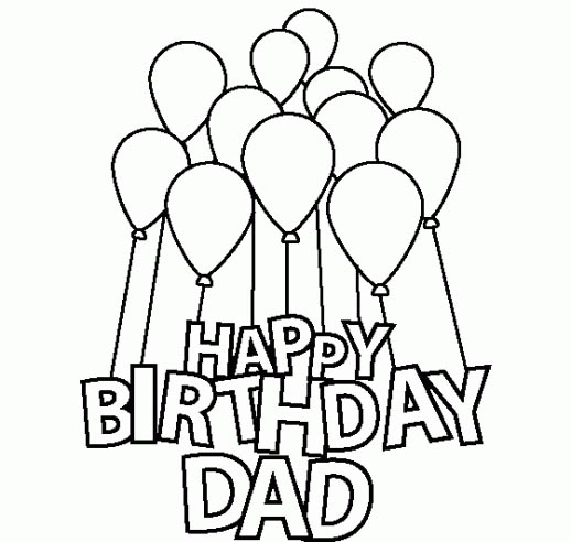 happy birthday daddy coloring pages - colorings happy birthday dad coloring cake drawing