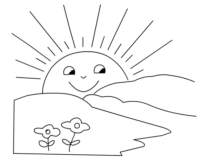 Small Sun Coloring Pages Coloring Pages