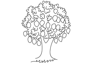 Fruits and Vegetables Coloring Pages