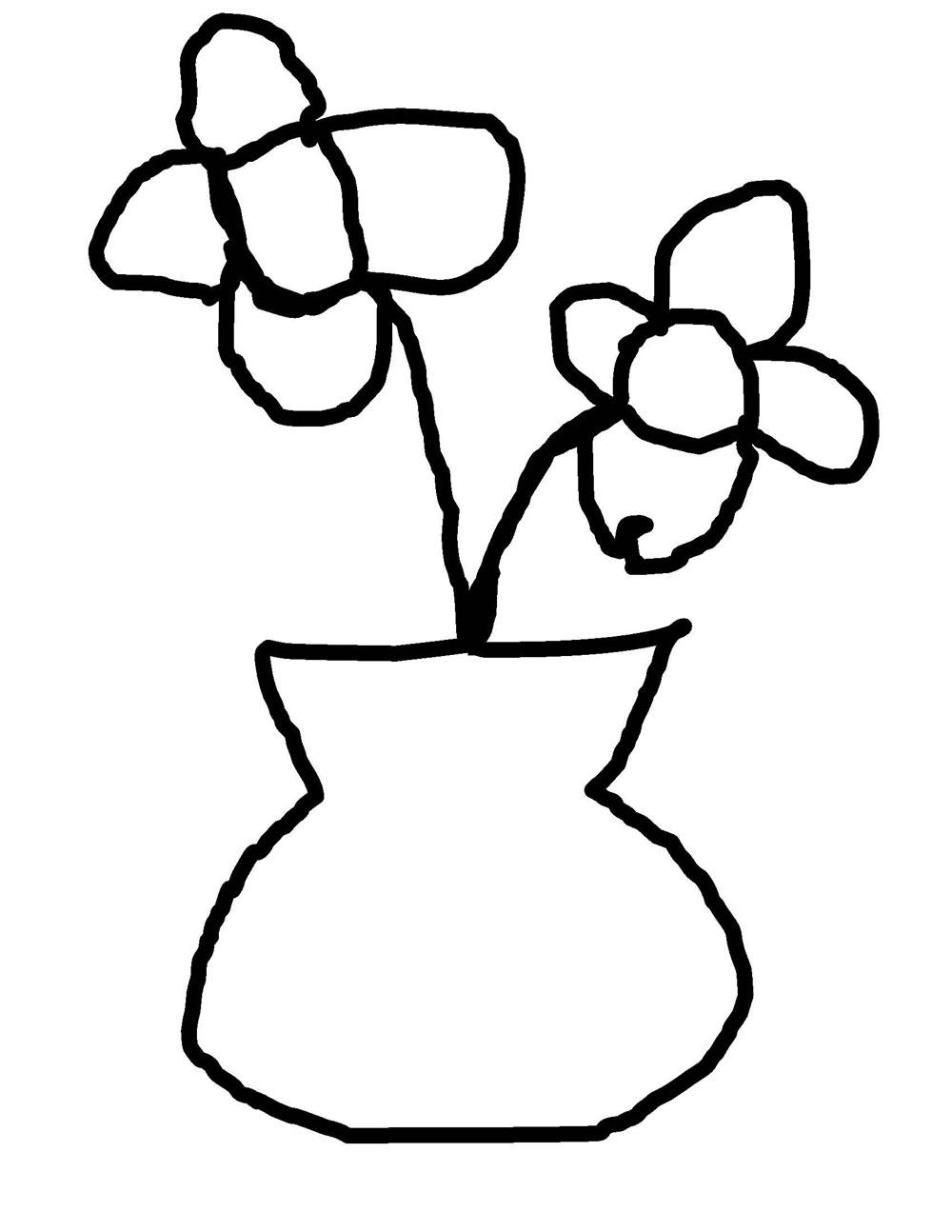 Colorings bean mosaic flower vase drawing bean mosaic flower reviewsmspy