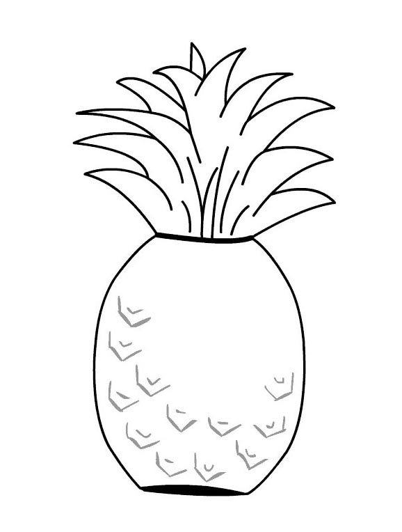 colorings pineapple fruit drawing for kids