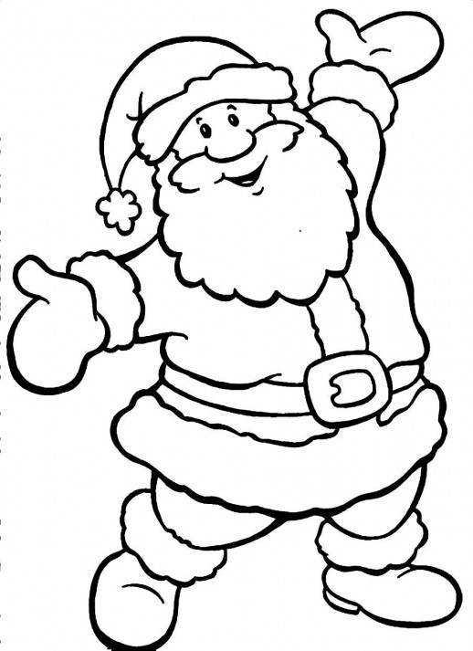 big and happy santa claus christmas coloring