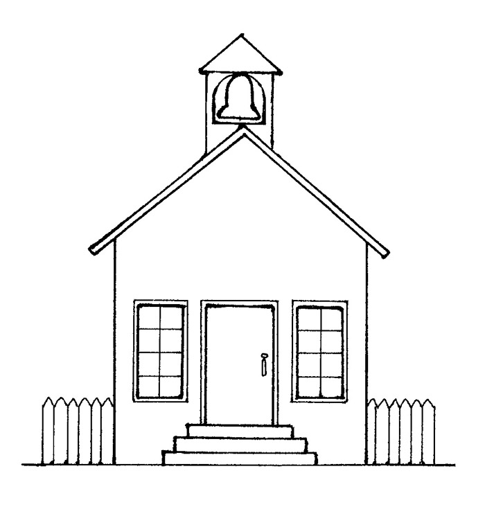 school house - Drawing For Home