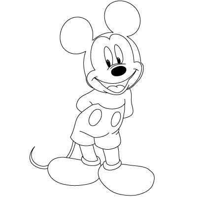 Colorings how to draw mickey mouse for How to draw with a mouse